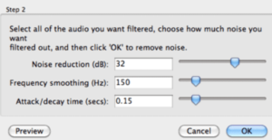 Remove background noise in Audacity
