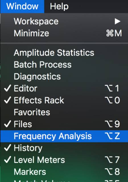Remove background noise using the frequency analysis tool