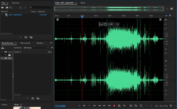 Remove background noise using the Spectral Frequency Display