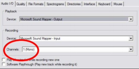 How to record audio from your computer on Audacity: Audio I/O Mono