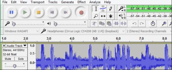 How to record the audio coming directly through my computer in Audacity.