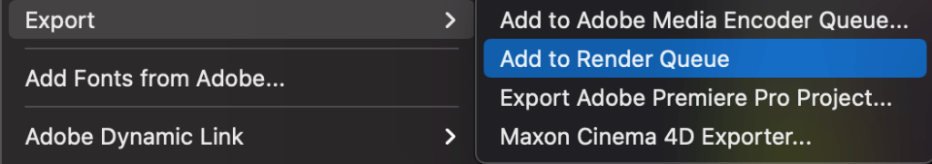 I can't find H.264 when exporting
